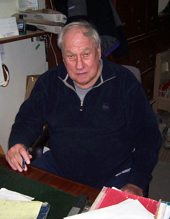 Leo Hardy, founder and still active in the business after 52 years.